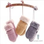 ถุงมือหนังเกาหลีบุขนกันหนาว