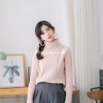 เสื้อไหมพรมคอเต่าญี่ปุ่น มีลายแนวตั้ง มี 2สี
