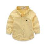 เสื้อเชิ๊ต แขนยาว สีเหลือง