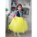ชุดเด็ก : เดรสสโนไวท์ สีเหลือง พร้อมผ้าคลุม