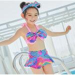 ชุดว่ายน้ำ สีชมพู-ฟ้า