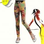 กางเกงเด็ก : เลกกิ้งเด็กโต สีทอง