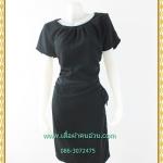 3220เสื้อผ้าคนอ้วนสีดำ ชุดทำงานผ้าวาเลนติโน่กลมแขนล้ำสวยมั่นใจสไตล์โมเดิร์นล้ำสุดคลาสสิคติดหรูได้ทุกงาน