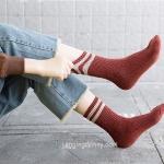 ถุงเท้าวูลลายแถบ ถุงเท้ากันหนาว มี 5 สี