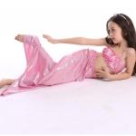ชุดว่ายน้ำ เซ็ตหางนางเงือก 3 ชิ้นสีชมพู