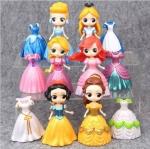 ตุ๊กตาเปลี่ยนชุดได้ เซ็ตเหล่าเจ้าหญิง เซ็ต6 ตัว พร้อมชุดเปลี่ยนในตัว