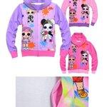 กันหนาว: เสื้อกันหนาวเด็ก ลาย LOL สีชมพู