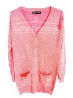 เสื้อคลุมทรงซาร่าวิ๊ง สีชมพูโอโรส