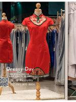 รหัส ชุดกี่เพ้า :KPS050 ชุดกี่เพ้าพร้อมส่ง มีชุดกี่เพ้าคนอ้วน แบบสั้น สีแดง คัตติ้งเป๊ะมาก ใส่ออกงาน ไปงานแต่งงาน ใส่เป็นชุดพิธีกร ชุดเพื่อนเจ้าสาว ชุดถ่ายพรีเวดดิ้ง ชุดยกน้ำชา หรือ ใส่ ชุดกี่เพ้าแต่งงาน สวยมากๆ ค่ะ