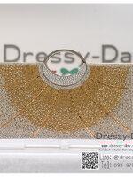 กระเป๋าออกงาน TE069: กระเป๋าออกงานพร้อมส่ง กระเป๋าคลัช วินเทจ สีทอง แบบมีหูหิ้ว ดีเทลคริสตอล มาพร้อมงานปักสุดหรู ราคาถูกกว่าห้าง ถือออกงาน หรือ สะพายออกงาน สวย หรู ดูดีเริ่ดมากค่ะ