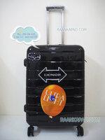 กระเป๋าเดินทางยี่ห้อไฮโปโล 90%PC รุ่น Hipolo-1197 สีดำ ขนาด 24 นิ้ว ส่งฟรี