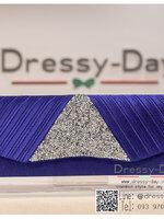 กระเป๋าออกงาน TE016: กระเป๋าออกงานพร้อมส่ง สีน้ำเงิน ดีเทลเพชรพรีเมี่ยม สวยหรู เริ่ดมาก ราคาถูกกว่าห้าง ถือออกงาน หรือ สะพายออกงาน สวย เหมือนดารา สำเนา