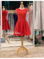 รหัส ชุดราตรีสั้น : AN050 ชุดแซก ชุดราตรี สีแดง ลูกไม้แขนกุด เรียบหรูเหมาะใส่ออกงานกลางคืน งานคอกเทล หมาะใส่ออกงานแต่งงาน งานกลางวัน กลางคืน ชุดเพื่อนเจ้าสาว