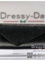 กระเป๋าออกงาน TE071 : กระเป๋าออกงานพร้อมส่ง สีดำ ดีเทลเพชร สุดหรู ราคาถูกกว่าห้าง ถือออกงาน หรือ สะพายออกงาน สวย หรู ดูดีเริ่ดมากค่ะ