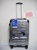 กระเป๋าเดินทาง 100%PC Flying master 3037 ขนาด 25 นิ้ว สีเงินลาย ส่งฟรีkerry
