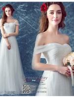 รหัส ชุดราตรีสั้น :AN785 ชุดแซก ชุดราตรียาว สีขาวไหล่ปาดสวยๆ ผ้าลูกไม้ ใส่ไปงานแต่งงานกลางวัน งานรับปริญญา งานเลี้ยง งานประกวด ถ่ายพรีเวดดิ้ง ชุดงานหมั้น ชุดพิธีกร สวยมากค่ะ