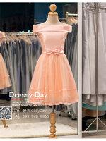 รหัส ชุดราตรีสั้น :BB044 มีชุดราตรีสวย สีโอรส ชุดไปงานแต่งสั้น เหมาะใส่งานหมั้น งานเช้า หรู พร้อมส่งเยอะสุดในไทย เนื้อผ้าพรีเมี่ยม คัตติ้งเนี๊ยบๆ