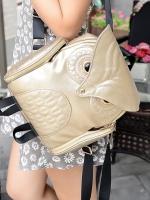 กระเป๋า แฟชั่น ทรงนกฮูก แสนเก๋ไก๋ สไตล์เกาหลี-B019-สีทอง