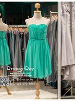 รหัส ชุดราตรีสั้น :BB086 มีชุดราตรีสวย สีเขียว เกาะอก ชุดไปงานแต่งสั้น เหมาะใส่งานหมั้น งานเช้า หรู พร้อมส่งเยอะสุดในไทย เนื้อผ้าพรีเมี่ยม คัตติ้งเนี๊ยบๆ