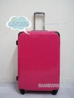 กระเป๋าเดินทางยี่ห้อไฮโปโล 90%PC รุ่น Hipolo-1151 สีชมพู ขนาด 28 นิ้ว ส่งฟรีี