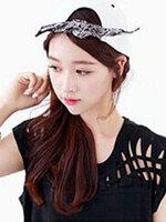 หมวกแฟชั่นแนวฮิปฮอปติดผ้าเอาไว้ผูกโบว์ เพิ่มความหวานสไตล์เกาหลี-H003-สีขาว