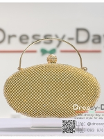 กระเป๋าออกงาน TE050 : กระเป๋าออกงานพร้อมส่ง สีทอง ที่เปิดประดับเพชร กระเป๋าออกงานเพชรทั้งใบสวยหรูมากค่ะ ราคาถูกกว่าห้าง ถือออกงาน หรือ สะพายออกงาน น่ารักที่สุด