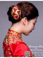 รหัส ปิ่นปักผมจีน : TR001 ขาย พร้อมส่ง ปิ่นปักผมจีน ลายดอกเหมย เครื่องประดับผมจีน แบบโบราณ เหมาะมากสำหรับใส่ในพิธียกน้ำชา และงานแต่งงานธรรมเนียมจีน