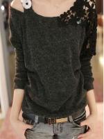 1161-เสื้อไหมพรมสีดำ