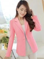 เสื้อสูทใส่ทำงาน ทรงสวยสไตล์เรียบหรู-1323-สีชมพู