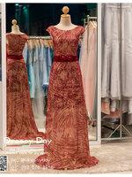 รหัส ชุดราตรี : PF005 ขายชุดราตรี สีแดง แขนกุด ดีเทลเป็นเพชรทั้งชุด สวย หรู สง่ามากๆ ใส่ออกงาน กาล่าดินเนอร์ งานพรหมแดง ไปงานแต่งงาน ชุดยกน้ำชา ชุดถ่ายพรีเวดดิ้ง ชุดเพื่อนเจ้าสาว