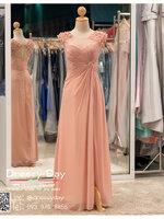 รหัส ชุดราตรียาว :BB109 ชุดแซก ชุดราตรียาว สีชมพู สวยหวาน น่ารัก แขนกุดสุดเรียบหรู งามสง่า ใส่ไปงานแต่งงาน งานเลี้ยง งานรับรางวัล งานกาล่าดินเนอร์ งานพรอม งานบายเนียร์ ชุดพิธีกร ชุดเพื่อนเจ้าสาว