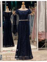 รหัส ชุดราตรียาว : PF023 ชุดราตรียาว สีน้ำเงิน มีเพรชประดับที่เอว เหมาะใส่ออกงานกลางคืน งานแต่งงาน งานกาล่าดินเนอร์ งานเลี้ยง งานพรอม งานรับกระบี่
