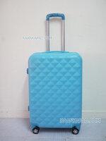 กระเป๋าเดินทาง fiber/abs ลายเพชร สีฟ้า ขนาด 24 นิ้ว ส่งฟรี