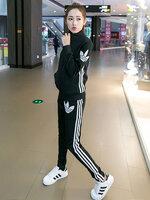 ชุดออกกำลังกายผู้หญิงสีดำ สไตล์แบรนด์ มี 5 ไซส์ S/M/L/XL/2XL-1728