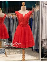 รหัส ชุดราตรีสั้น :BB046 มีชุดราตรีสวย สีแดง ชุดไปงานแต่งสั้น เหมาะใส่งานหมั้น งานเช้า หรู พร้อมส่งเยอะสุดในไทย เนื้อผ้าพรีเมี่ยม คัตติ้งเนี๊ยบๆ