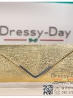 กระเป๋าออกงาน TE044: กระเป๋าออกงานพร้อมส่ง สีทอง ใบใหญ่ สวยเรียบหรู ราคาถูกกว่าห้าง ถือออกงาน หรือ สะพายออกงาน สวยเหมือนดารา
