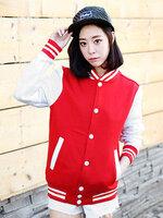 เสื้อคลุมแฟชั่น Classic stlye สวยปนเท่ห์สไตล์เกาหลี-1662-สีแดง
