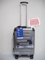 กระเป๋าเดินทาง 100%PC Flying master 3037 ขนาด 21 นิ้ว สีเงินลาย ส่งฟรีkerry