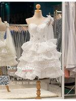 รหัส ชุดราตรีสั้น :BB139 มีชุดราตรีสวย สีขาว สั้น เหมาะใส่งานหมั้น งานเช้า หรู พร้อมส่งเยอะสุดในไทย เนื้อผ้าพรีเมี่ยม คัตติ้งเนี๊ยบๆ แขนกุด