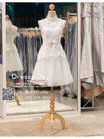 รหัส ชุดราตรีสั้น :BB132 มีชุดราตรีสวย สีขาว สั้น เหมาะใส่งานหมั้น งานเช้า หรู พร้อมส่งเยอะสุดในไทย เนื้อผ้าพรีเมี่ยม คัตติ้งเนี๊ยบๆ