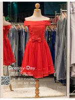 รหัส ชุดราตรีสั้น :BB044 มีชุดราตรีสวย สีแดง ชุดไปงานแต่งสั้น เหมาะใส่งานหมั้น งานเช้า หรู พร้อมส่งเยอะสุดในไทย เนื้อผ้าพรีเมี่ยม คัตติ้งเนี๊ยบๆ