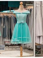 รหัส ชุดราตรีสั้น :BB045 มีชุดราตรีสวย สีเขียวมิ้น ชุดไปงานแต่งสั้น เหมาะใส่งานหมั้น งานเช้า หรู พร้อมส่งเยอะสุดในไทย เนื้อผ้าพรีเมี่ยม คัตติ้งเนี๊ยบๆ คอบัว