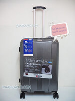 กระเป๋าเดินทาง 100%PC/ABS Flying master San3056 ขนาด 25 นิ้ว สีเทา ส่งฟรีี