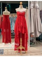 รหัส ชุดราตรี : PF162 ชุดราตรีสั้นเกาะอกตกแต่งกริตเตอร์ สีแดง ชุดไปงานแต่งงานจับจีบช่วงอก เล่นระดับที่กระโปรงสวยเก๋มากๆ เหมาะสำหรับงานแต่งงาน งานกลางคืน กาล่าดินเนอร์แบบเริ่ดๆ