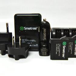 แบตเตอรี่ Gopro พร้อมอุปกรณ์ครบเซ็ต ยี่ห้อ Smatree® ชุดใหญ่