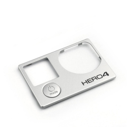 Front Cover Faceplate Frame Housing Replacement Repair Part for GoPro Hero 4 Black and Silver