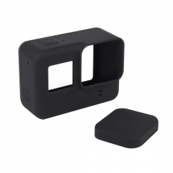 Soft Silicone Protective Cover Case + Lens Cap Guard For GoPro Hero 5 Black