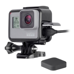 HERO5 Black Standard Frame Mount Protective Housing Border + Silicons Lens Cap for GoPro Hero 5