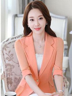 เสื้อสูทผู้หญิงสีส้ม-1804-2XL