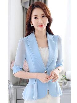 เสื้อสูทผู้หญิงสีฟ้า-1804-2XL
